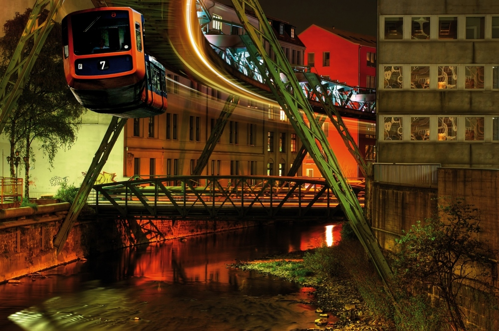 The Suspended Monorail of Wuppertal. I didnt take this photo. Almost looks like I took it but it's not mine. =) From the German Travel website